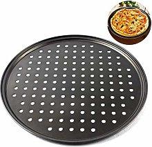 Yusat - Teglia per pizza antiaderente da 32 cm,