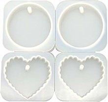 Yushu - Set di 4 stampi a forma di cuore a forma