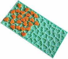 Yushu - Stampo in silicone a forma di cuore, per