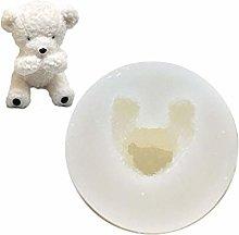Yushu - Stampo per sapone in silicone con orso 3D,