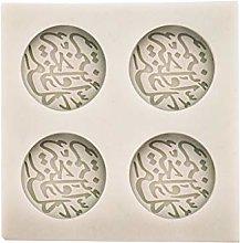 Yushu - Stampo per torta in silicone con caratteri