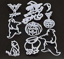 YUZI - Stampo per torta di Halloween, 11 pezzi