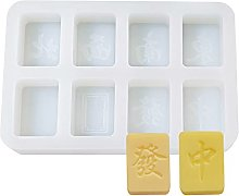 Yxinghai - Stampo in silicone a forma di Mahjong