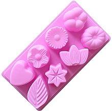 Yyqx - Stampo in silicone per torte, 8 fori, per
