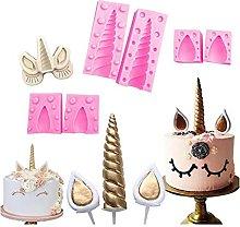 Yyqx Stampo per torta in silicone 3D con unicorno,