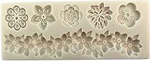 Yyqx - Stampo per torte e torte, motivo floreale,