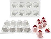 Yyqx - Stampo per torte in latta con 8 cavità, in