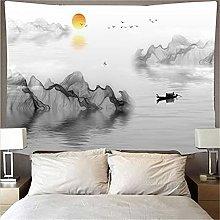 YYRAIN Inchiostro Pittura di Paesaggio Arazzo