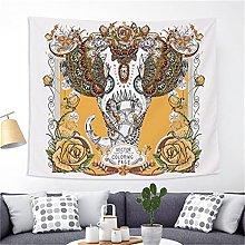 YYRAIN Nordic Stampa Colore Elefante Arazzo Casa