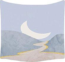 YYRAIN Sole Blu E Luna Arazzo Decorazione della