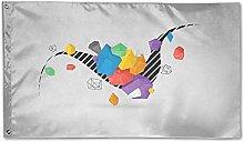 Zaino Borsa Bandiera Giardino Geometica 3D Colore
