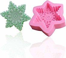 Zeagro - Stampo natalizio in silicone con fiocco
