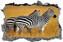 Zebra, adesivo, 3d, animali, arte della parete,
