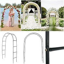 Zebraa - 240 cm cancello in ferro arco modo