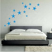 Zebraa - Adesivi rimovibili 15 pezzi stella murale