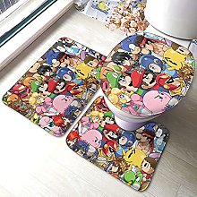 Zelda Rockman Kirby Pikachu - Set di 3 tappetini