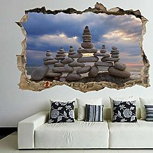 Zen Balancing Stones Rocks Wall Art Sticker Murale