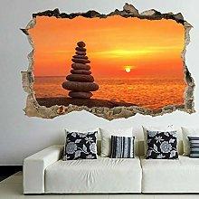 Zen Balancing Stones Sunset Wall Art Sticker