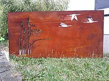 Zen Man 032005-1 - Paravento in metallo anticato,