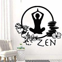 Zen Wall Sticker Yoga Studio Decorazione Floreale