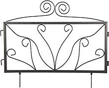 ZENGAI Ferro Nero Decorativo Recinzione Giardino,