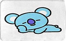 Zerbino blu carino animato orso,Impermeabile