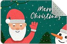 Zerbino con Babbo Natale, antiscivolo, lavabile in