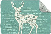 Zerbino con cervo natalizio, antiscivolo, lavabile