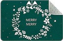 Zerbino con sfondo natalizio, antiscivolo,