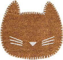 Zerbino gatto marrone 40x38 cm