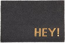 Zerbino grigio antracite stampa dorata, 40x60 cm