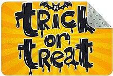Zerbino per Halloween, giallo, antiscivolo,