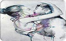 Zerbino, pittura baciare coppia, impermeabile