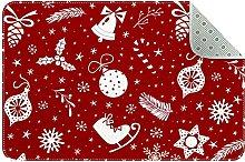Zerbino rosso con decorazioni natalizie,