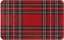 Zerbino, tappeto natalizio scozzese scozzese,