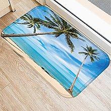 Zerbino Tappeto Spiaggia Con Paesaggio In Famiglia