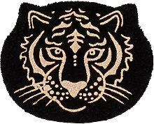 Zerbino testa di tigre nero e dorato