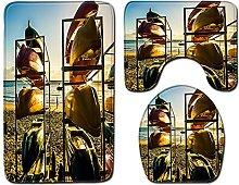 ZFSZSD Tappeto Bagno Set 3 Pezzi Colore barca