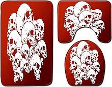 ZFSZSD Tappeto Bagno Set 3 Pezzi cranio Tappeto da