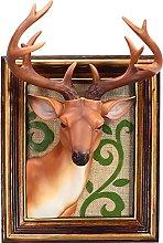 ZGPTX 3D Deer Head Statua Scultura Cornice Decor