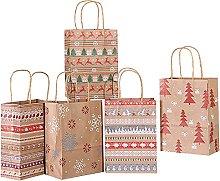 Zhaibiao-us 30 sacchetti di carta kraft stile