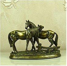 ZHYLing Statue Figurine sculture, a Cavallo Amanti