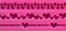 ZIS - Stampo in silicone a forma di cuore a forma