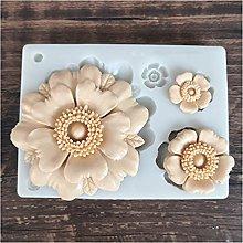 ZIS - Stampo in silicone con 4 fiori, per