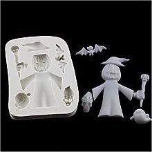 ZIS - Stampo in silicone per Halloween, motivo: