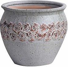 ZLJ Vaso da Fiori XL Vintage Ceramica Grande Gres