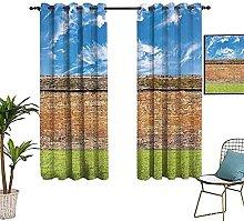 ZLYYH tende da sole Blu cielo muro di mattoni erba