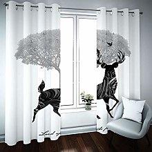 ZLYYH tende oscuranti termiche Fulvo albero grigio
