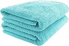 ZOLLNER 2 Asciugamani per la Sauna, Azzurro,