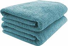 ZOLLNER 2 Asciugamani per la Sauna, Blu petrolo,